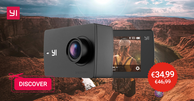 b2a7ab267db50f YI Discovery, Action Cam 4K WiFi Economica In Offerta A Solo 34 € | COUPON