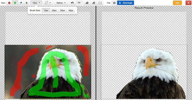 Eliminare sfondo bianco foto online