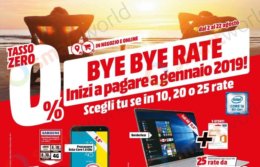 Volantino Mediaworld Con Promo Bye Bye Rate Fino Al 22