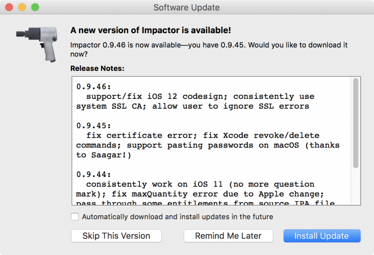 Cydia Impactor Si Aggiorna Per iOS 12