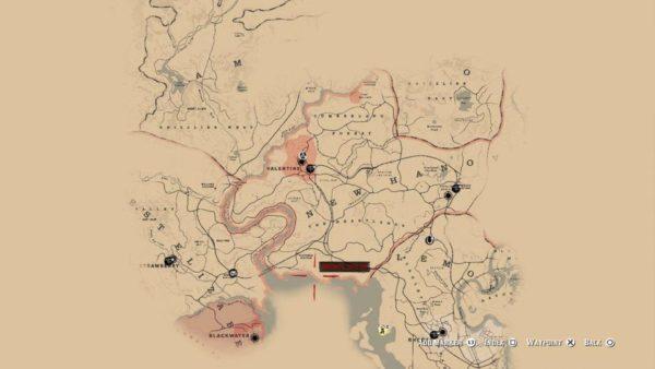 Anteprima mappa di giocoRed Dead Redemption 2