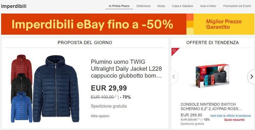 IMPERDIBILI eBay: Ecco Gli Sconti Dal 12 Ottobre