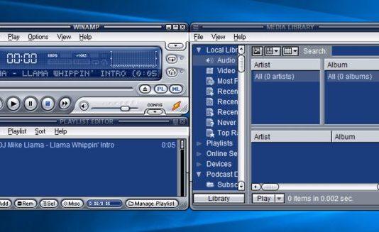 WinAmp 5.8 download per PC Windows 10