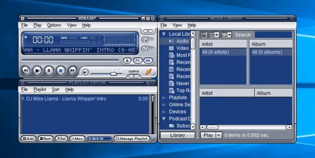 WinAmp 5.8 download per PC Windows 10