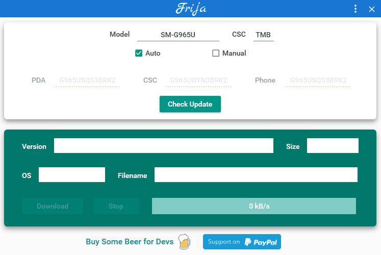 Download Firmware Samsung con Frija