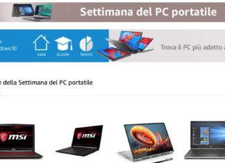Settimana del PC portatile su Amazon