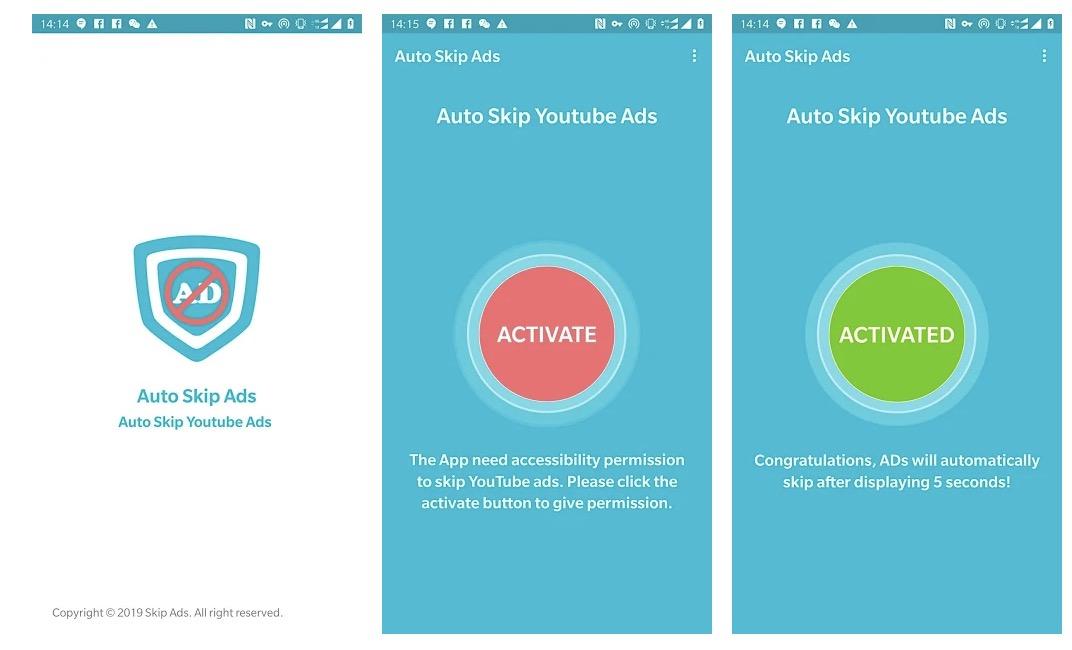 Skip pubblicità suYouTube Android