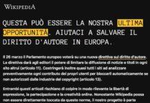 Wikipedia Italia stata oscurata
