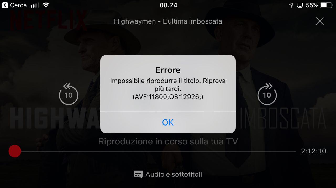 AirPlay Netflix non funziona più