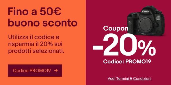 Coupon eBay Giugno 2019