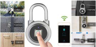 Lucchetto Smart Bluetooth con Lettore Impronte