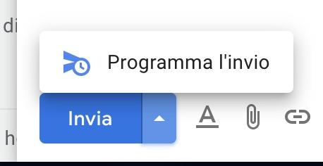 Programmare invio email Gmail - web