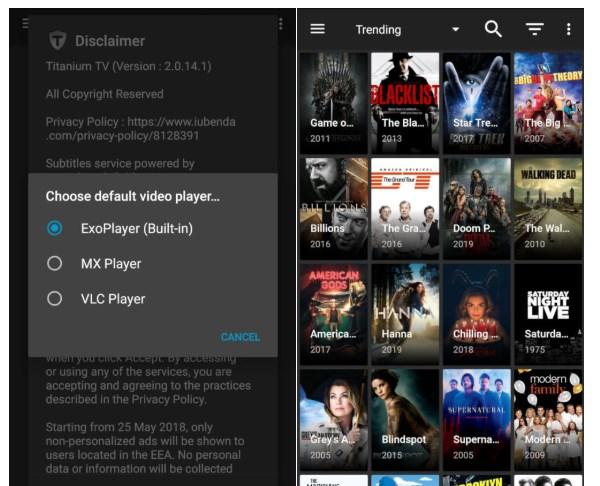 Titanium TV: App imparare Inglese guardando Film e Serie TV