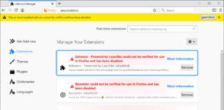 Estensioni di Firefox disabilitate a causa di un certificato scaduto