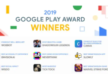 App Vincitrici Google Play Awards 2019