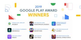 App Vincitrici Google Play Awards 2019