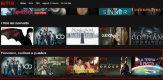 Rimuovere da Netflix Serie TV Continua a Guardare