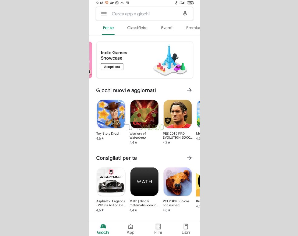 Play Store in Material Theme
