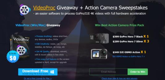 Prova a vincere GoPro Hero 7 e DJI OSMO Action