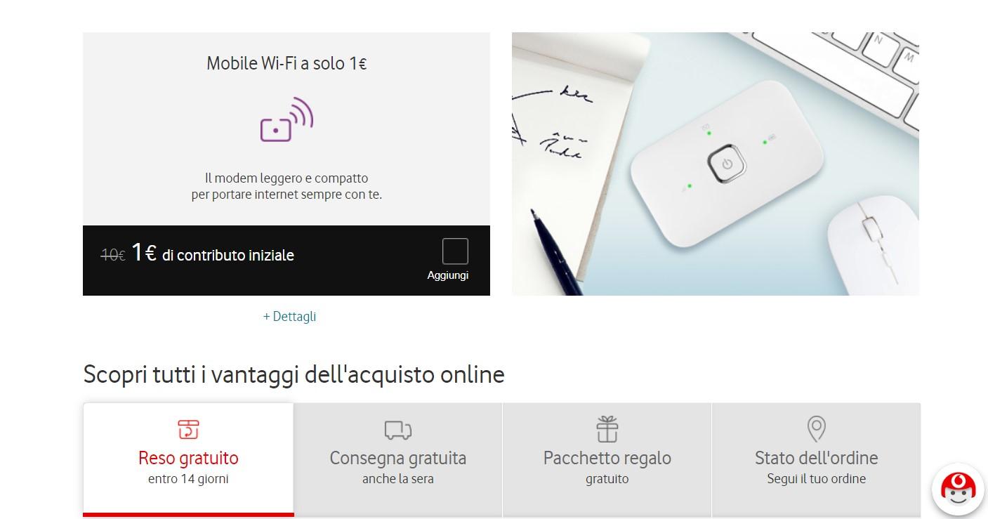Offerta Vodafone Modem 1 euro