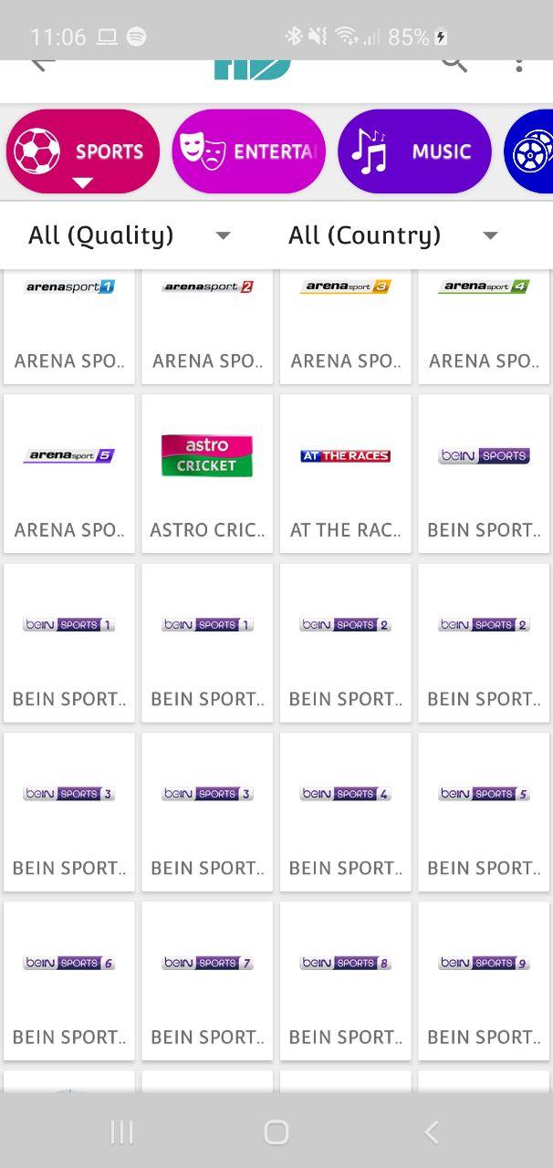 Calcio, partite, sport streaming Android con HD Streamz