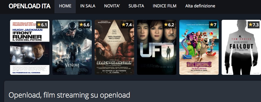 Film Streaming Openload con Openload
