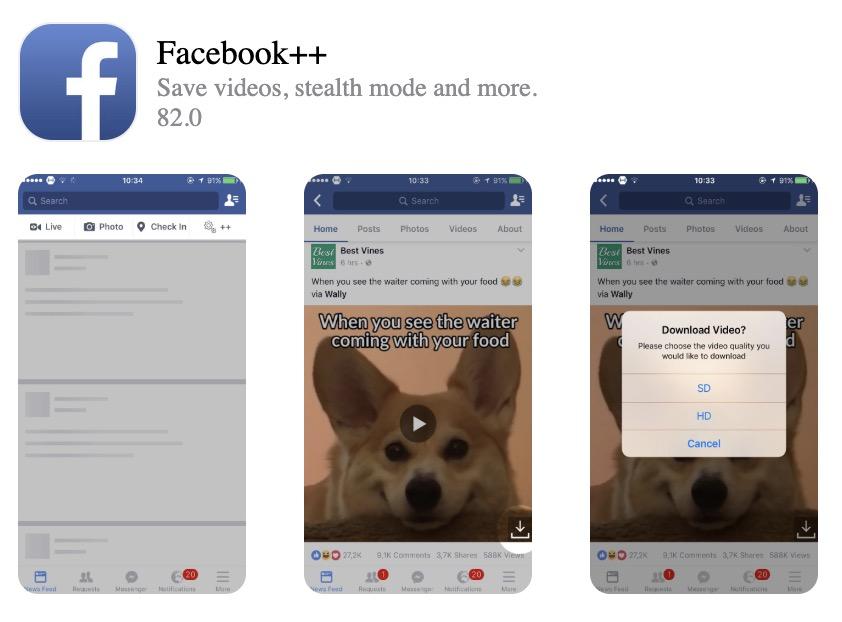 Come installare Facebook++ su iPhone, iPod, iPad