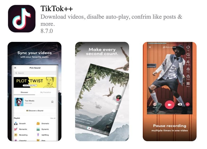 Come installare TikTok++ su iPhone, iPod, iPad