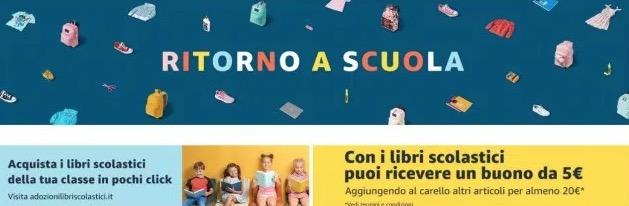 Compra Libri Scolastici Amazon e ottieni un buono da 5 euro