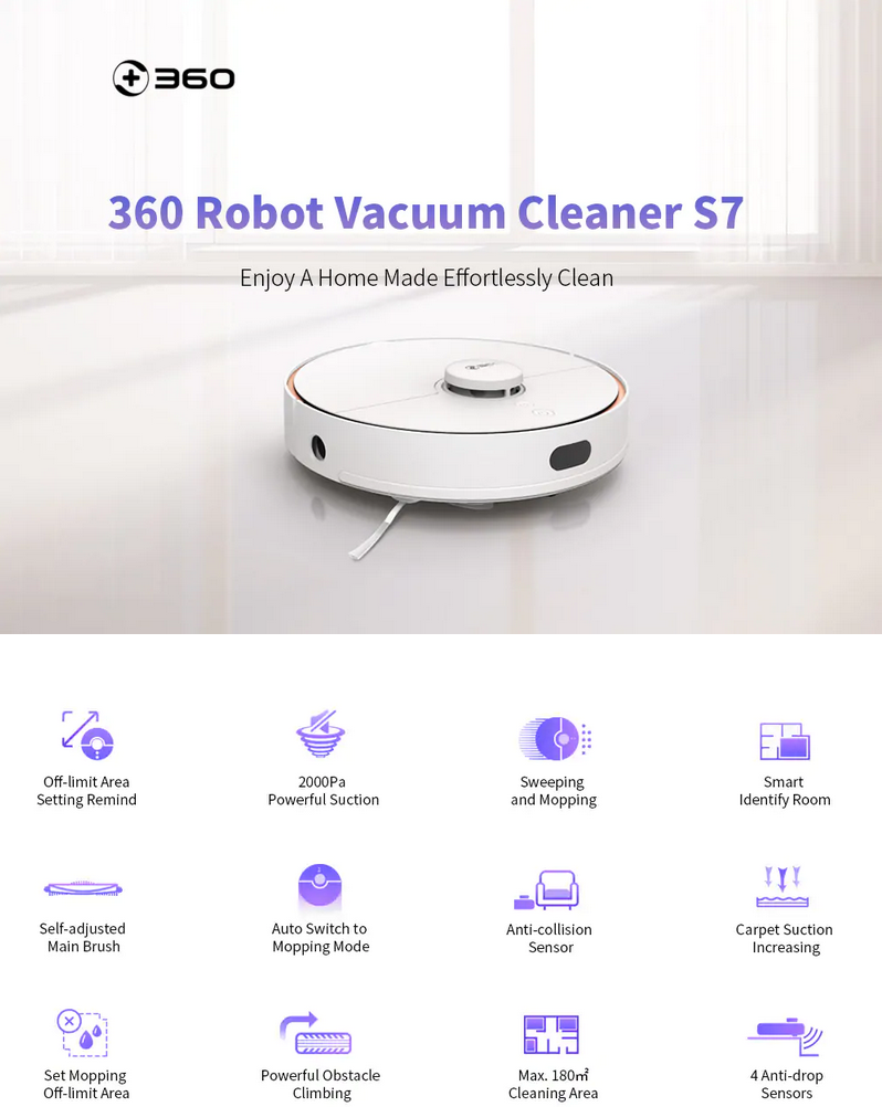 Le caratteristiche e le funzionalità di Roborock 360 S7