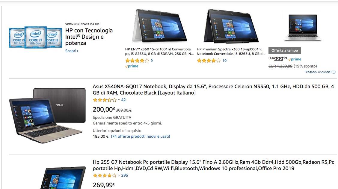pacchetto alla moda e attraente repliche elegante e grazioso Computer Portatili Amazon: Le Offerte Del 24 Ottobre 2019