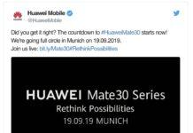 Huawei Mate 30 uscita