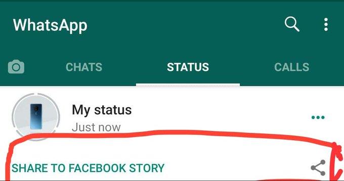 condividere su Facebook lo Stato di WhatsApp