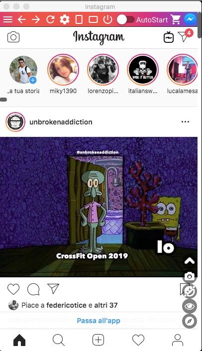 Instagram PC messaggi