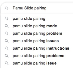 pamu slide pairing issues