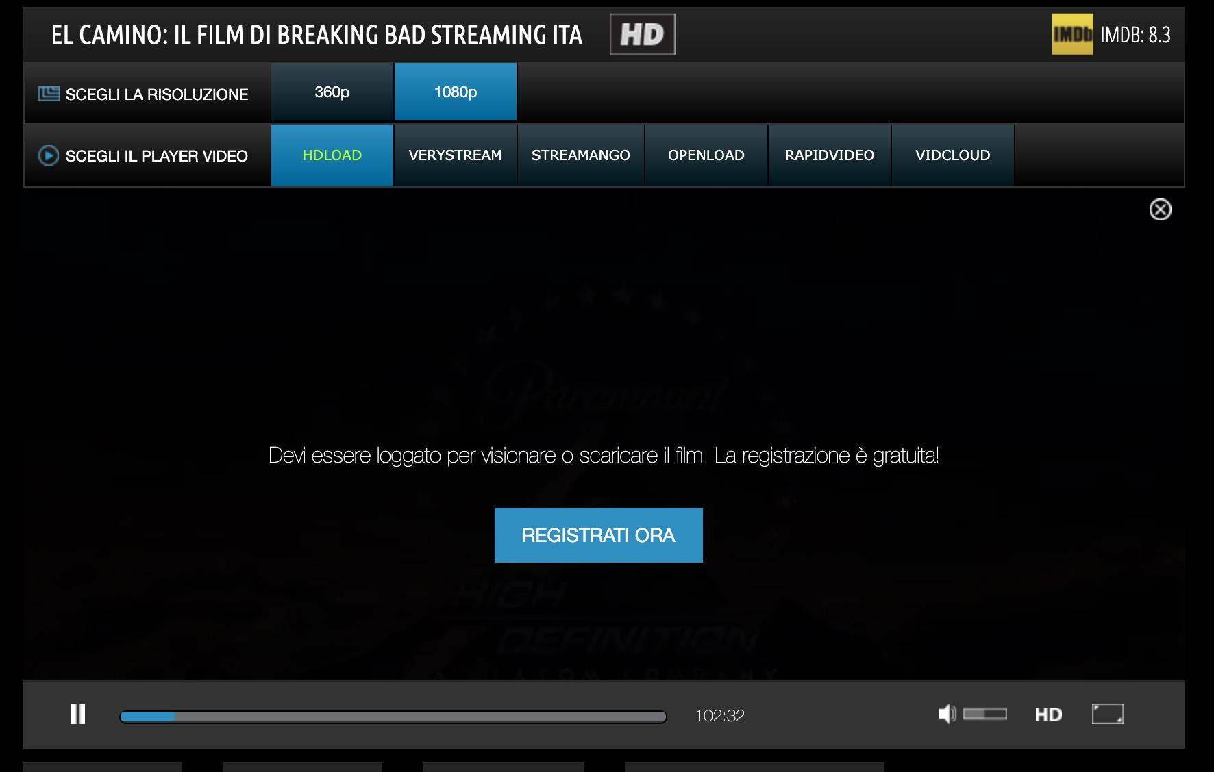 vedere un film in streaming su AltaDefinizione