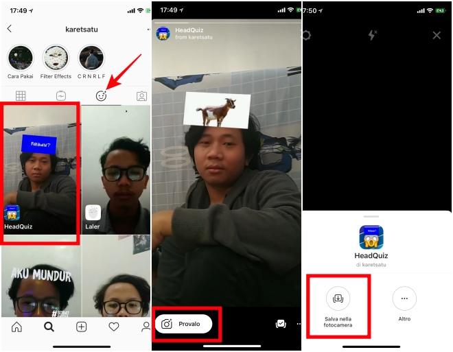 Come scaricare Headquiz di instagram