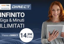Giga illimitati Wind con l'offerta Wind Tre Business Direct