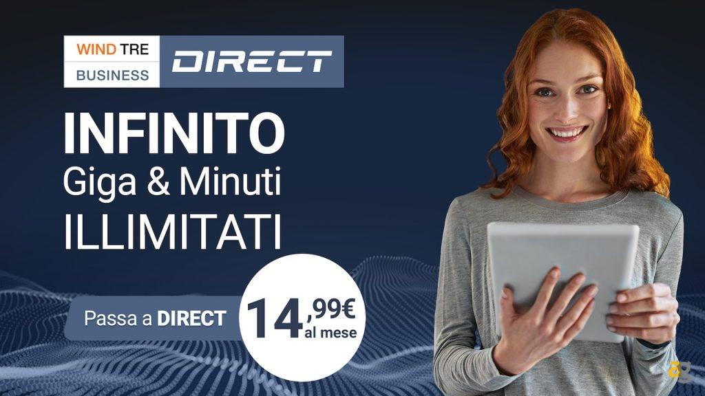 Giga illimitati Wind con l'offerta Wind Tre Business Direct