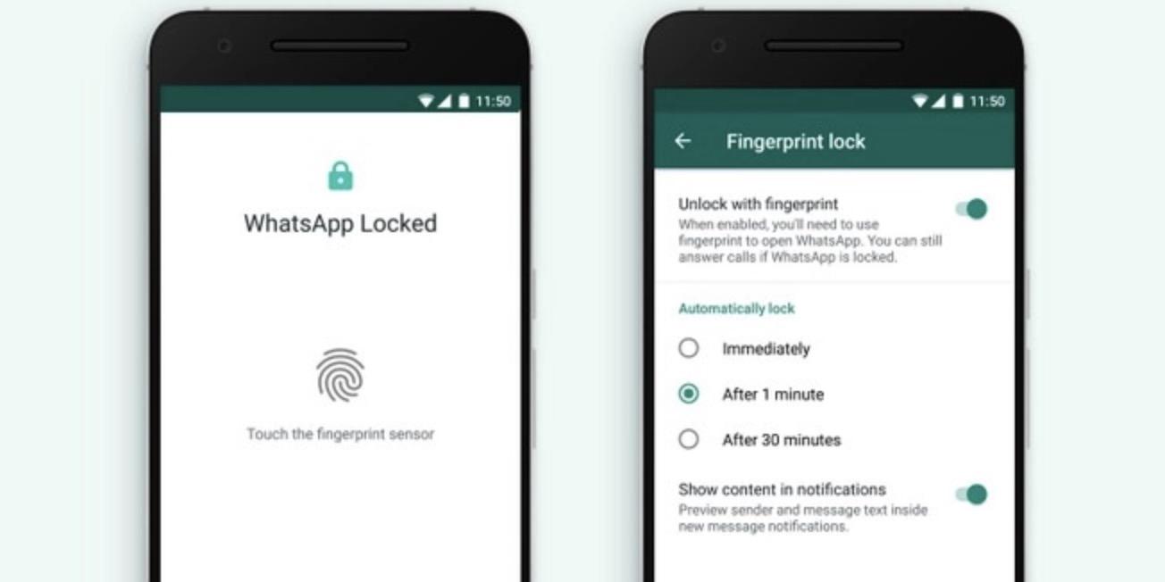 Impronta digitale WhatsApp Android