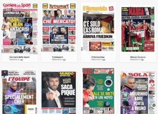 Prime pagine quotidiani sportivi di oggi