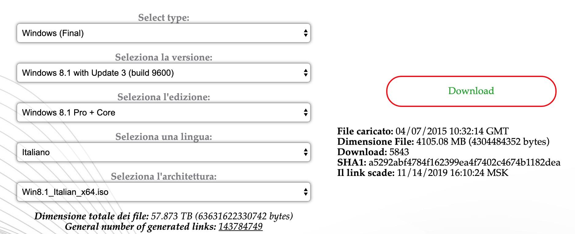 Windows 8.1 download italiano