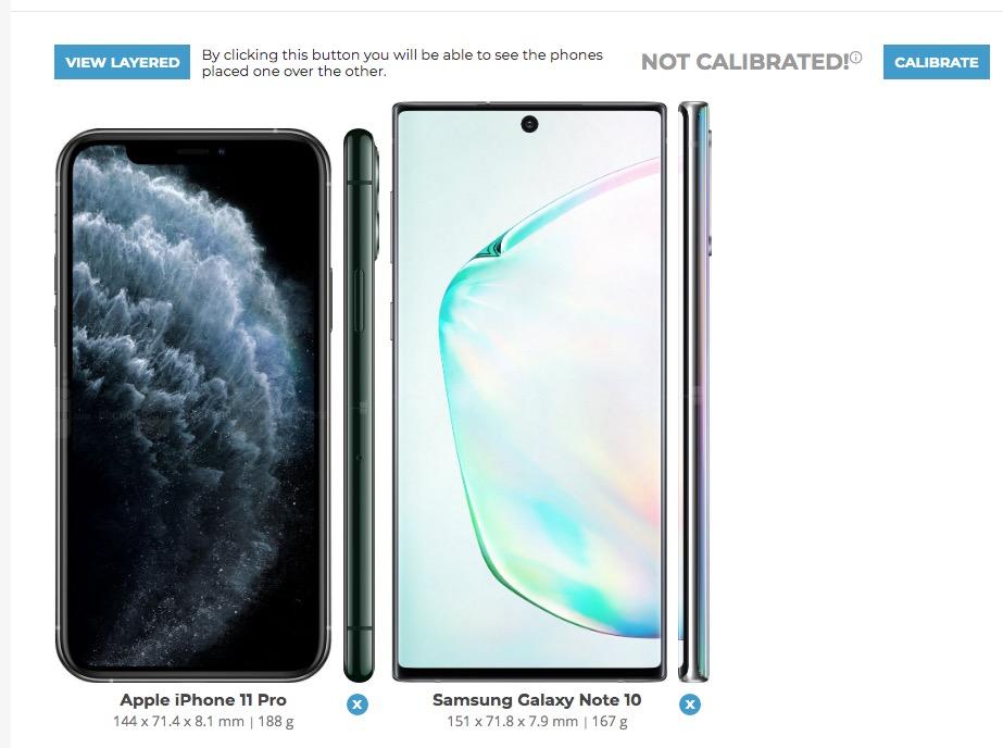 Compara dimensioni smartphone
