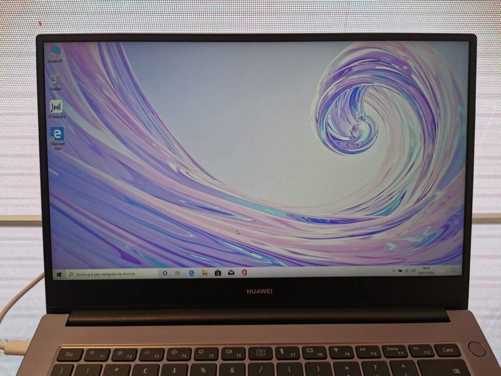 Huawei MateBook D14 display anteprima