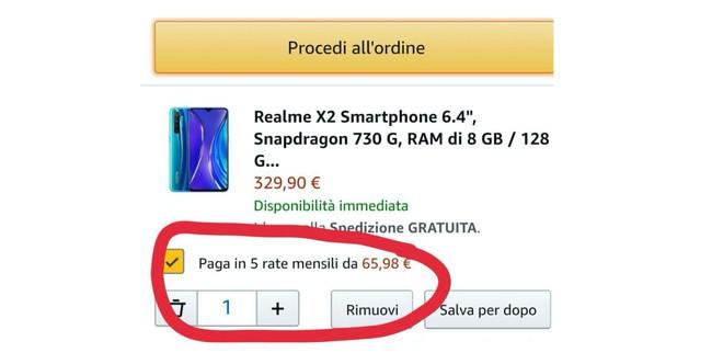 Pagare a rate su Amazon Italia