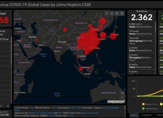 Coronavirus mappa aggiornata LIVE