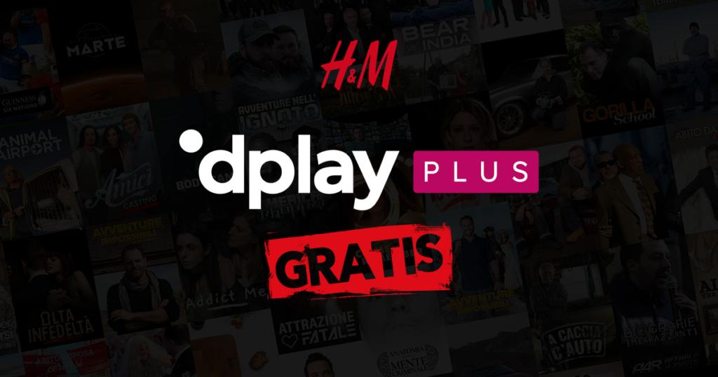 H&M offre 2 mesi di Dplay Plus GRATIS