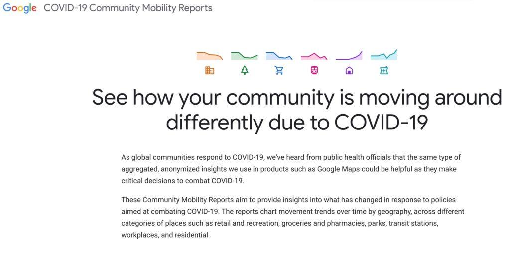Coronavirus, Google controlla gli spostamenti