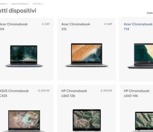 Arrivano i Chromebook su Amazon