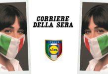 Mascherina omaggio con Corriere della Sera e LIDL